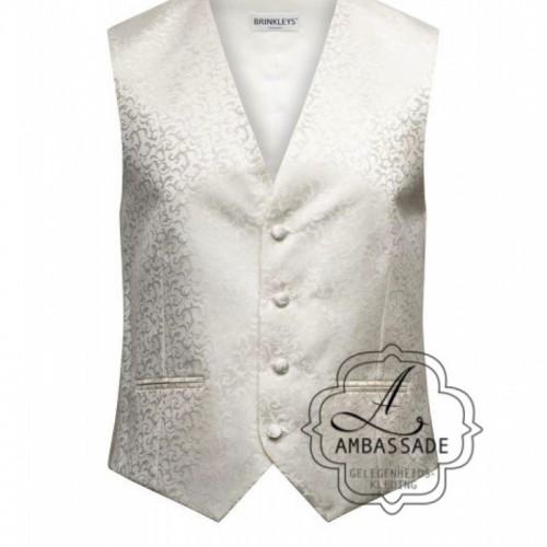 Ivoor, ivory off white vest of waistcoat of gilet voor onder een jacquet.
