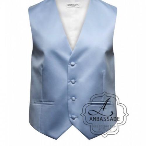Pastel lichtblauw gilet vest of waistcoat voor een bruiloft of de bruidegom
