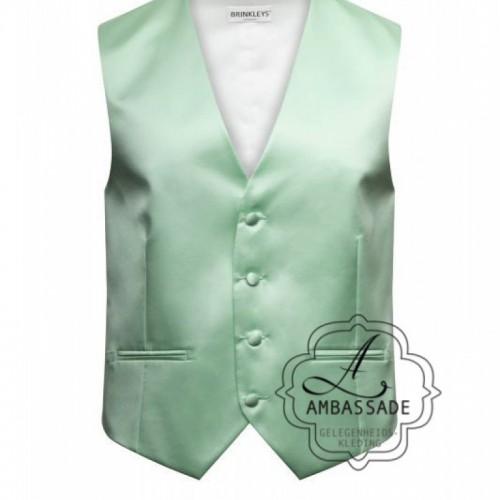Mintgroen waistcoat gilet of vest vooronder het jacquet van de bruidegom