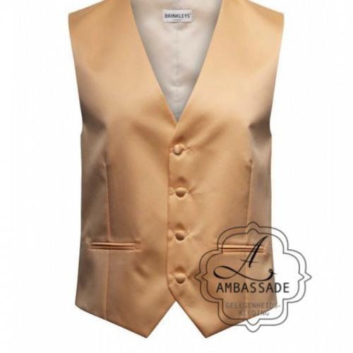 pastel peach gilet waistcoat voor de bruidegom onder het jacquet te dragen