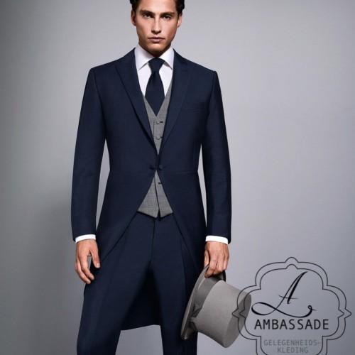 Trouw jacquet in het blauw van het merk Wilvorst.