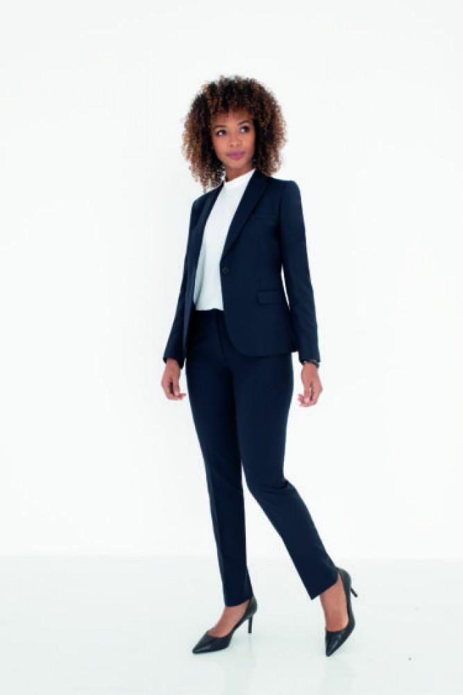 Huur kostuum donker blauw of zwart voor dames