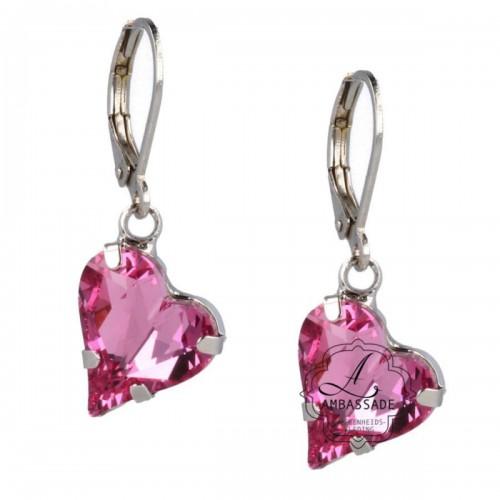 Otazu oorbellen met roze harten.