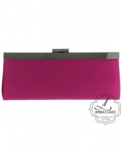 Clutch hot pink met clip