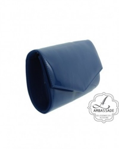 Clutch blauw lak
