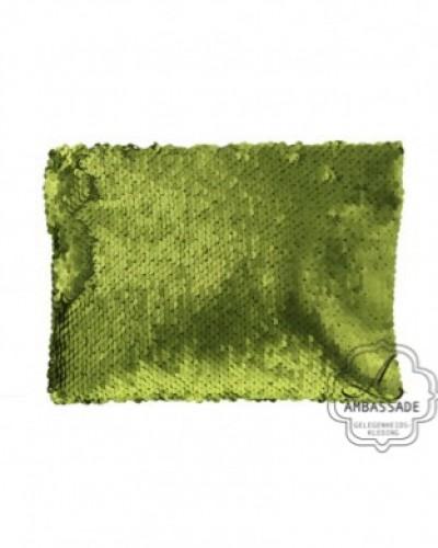 Clutch met groene pailetten