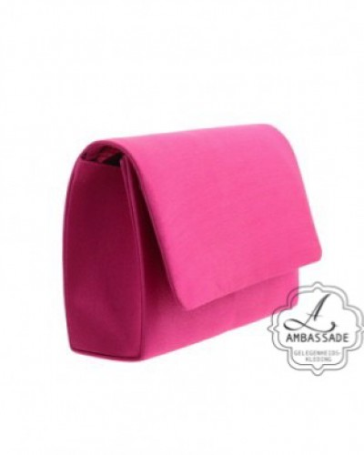 Clutch roze satijn