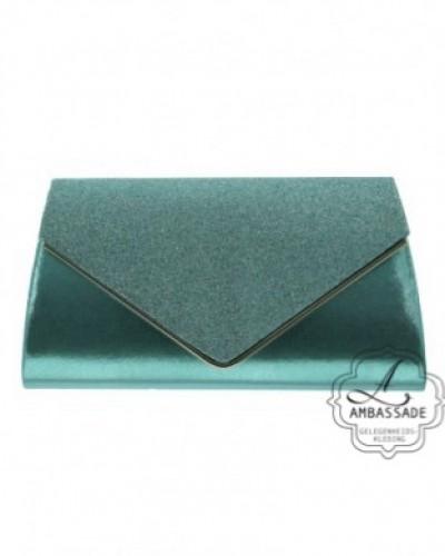 Groene envelop Clutch