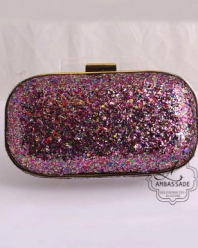Pink glitter Clutch