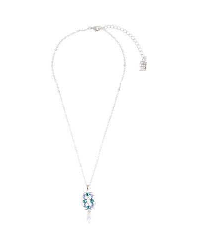 Otazu ketting blauw met groen en cristal