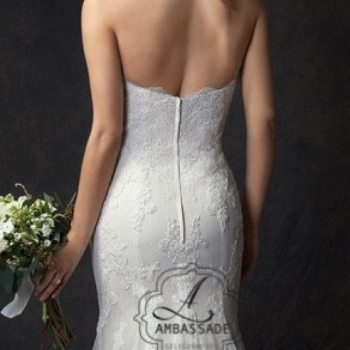 Detail van achterkant Boho bruidsjurk.