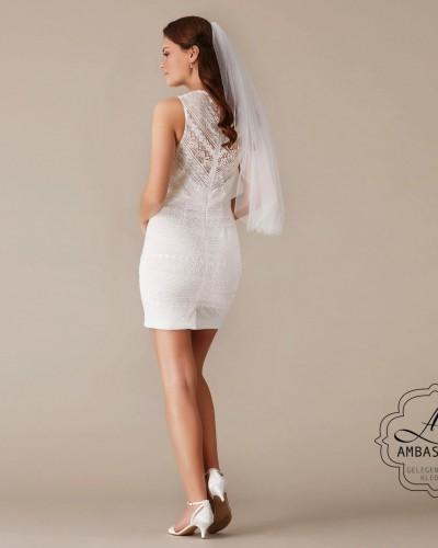 Korte sexy bruidsjurk P2737