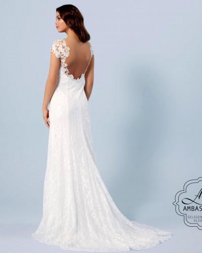 Romantische bruidsjurk met lage rug P2749