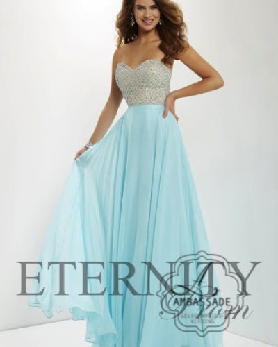 Eternity Prom galajurk 12670 Turquoise/ strass
