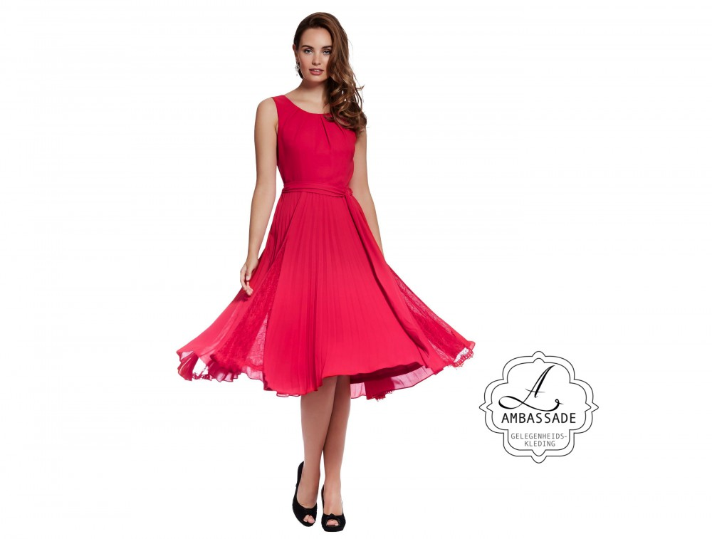 Lilly cocktailjurk 9800 Red