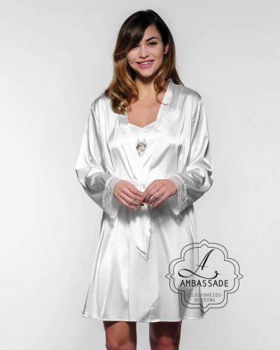Bruidslingerie Kimono Just married