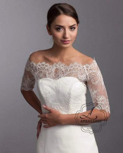 Top voor over bruidsjurk