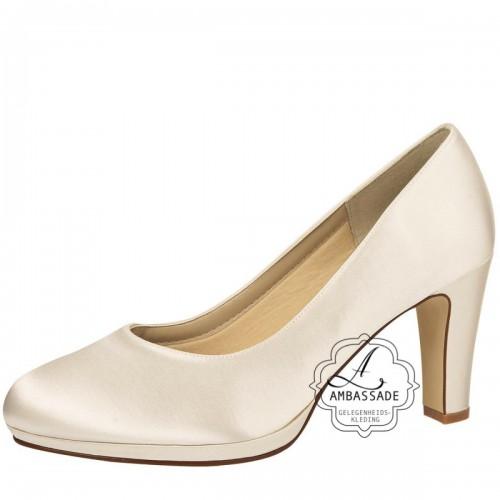 Grace, van Elsa coloured schoes, het schoenmerk voor bruidsschoenen. De Grace heeft een hakhoogte van 7,5 cm en een klein plateau. Leverbaar in de maten 35 t/m 42. prijs: € 139,-