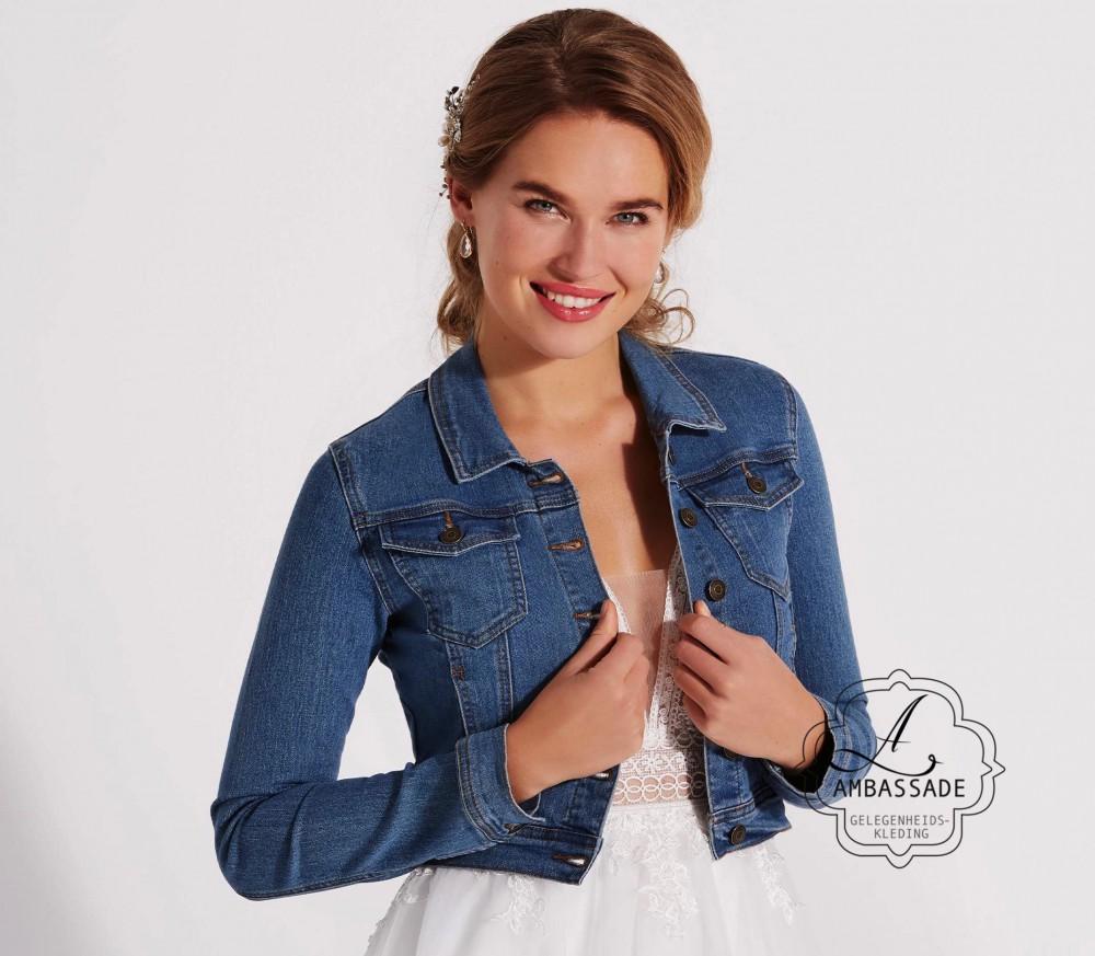 Jeans jacket voor bij je bruidsjurk