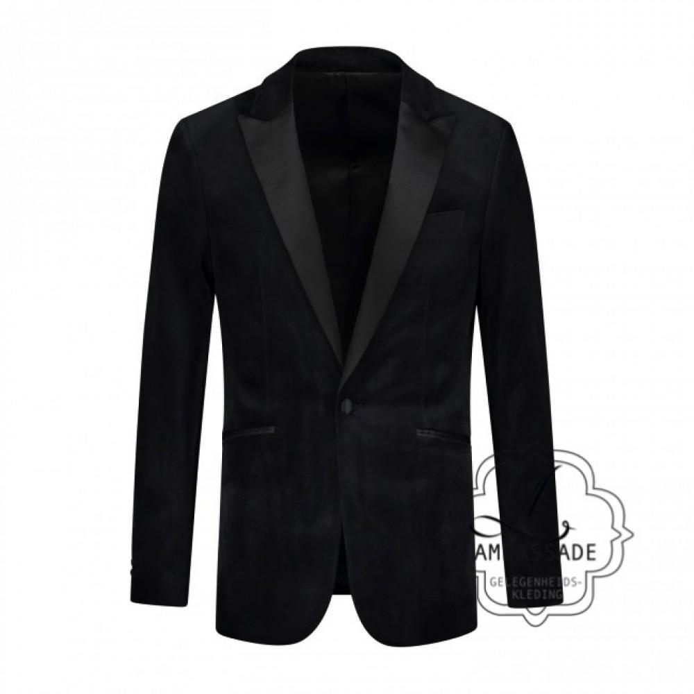 Smokingjas fluweel, zwart