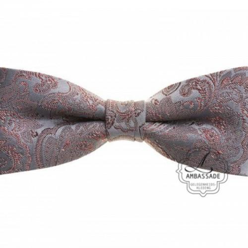 Strik/bow tie in bewerkte of effen satijn i Ivory off white