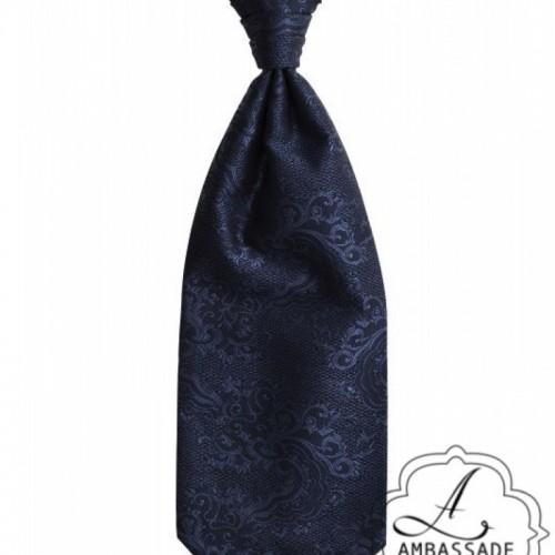 Blauw Plastron te gebruiken voor onder een jacquet.
